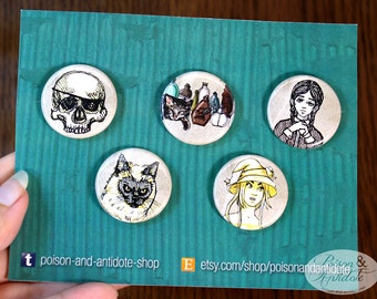 Spooky Sketches - 5-pin button pack
