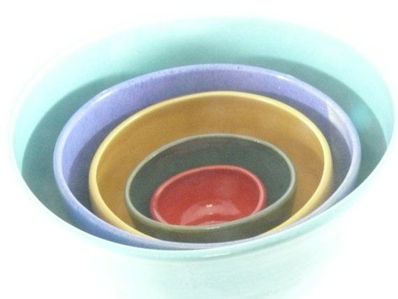 Ceramic Nesting Bowls Kitchen Serving Bowls Ceramic
