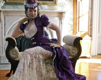 Purple Fantasy Wedding Dress   Lovely in Lace   Ready to Ship