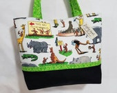 Curious George at the Zoo purse tote handbag