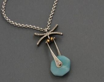 Amazonite Criss-Cross Necklace