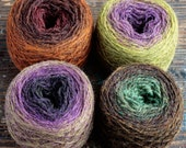 Pure wool knitting yarn - 4 x 38 g