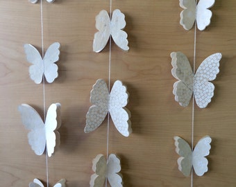 "Butterfly Garland Wedding - 16.25 Feet, 3 Strands, 65"" each"
