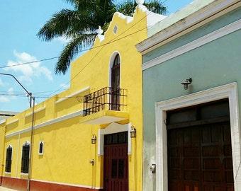 La Casa Bonita. The Pretty House. Spanish Colonial Merida, Mexico.