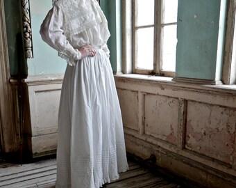 """Antique Petticoat Slip XS 22"""" - 24"""" Waist"""