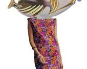 Nautical Decor for Bathroom Colorful Exotic Fish Collage Original Bright Color Decor Sea Life Funny Fish Face