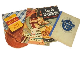 Lot Of Four Vintage Recipe Booklets