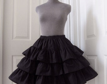 RUFFLE SKIRT Cotton Tiered Petticoat (All Colours)