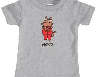 Funny Baby Shirt 80s Hip Hop Cat TShirt Word Funny Baby Gift Cute Baby Shirt 80s Hip Hop TShirt