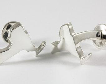 New York NY State Sterling Silver Cufflinks