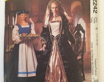 Renaissance Outlander Costume Pattern McCalls 2242 Adult Misses sizes  14, 16, 18
