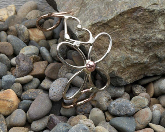 Heart and flower Curly Metal Bracelet