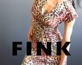 Floral Maxi Dress - iheartfink Handmade Floral Maxi Dress, Upscale Fashion, American Artist Made Clothing, Hand Printed Long Art Print Dress