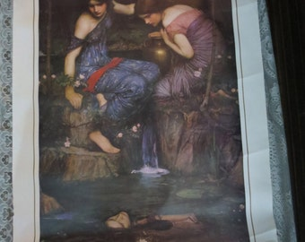 "John Waterhouse Nymphs Finding the Head of Orpheus Art Print 24x36"" Heavy Stock Paper"