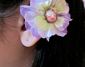 Flower Ear Cuff - Fairy Ear Cuff - Purple Ear Cuff - Flower Cuff Earring - Flower Earcuff - Fairy Earcuff - Floral Ear Cuff - Ear Wrap