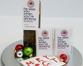 Sassy Christmas Wine Tag - Santa - Wine Tag - Funny Holiday