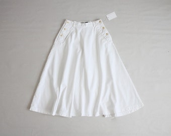 white denim skirt | full white white skirt | long full skirt