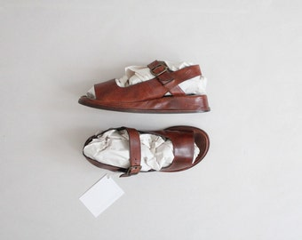 leather platform sandals | mary jane flats | size 7.5 8 8.5 flats