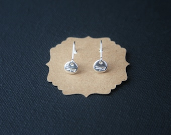 Teeny tiny Sterling Silver earrings - dragonfly earrings