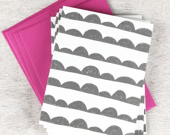 Scallop Notecard Set