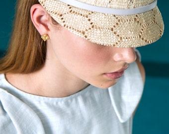 NEW 14K Gold Cube Stud Earrings . Chunk Gold Plated Stud Earrings - Geo Metal Earrings - Sterling Earrings - Druzy Jewelry