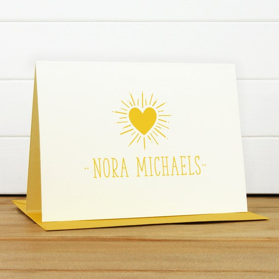 Personalized Stationery Set / Personalized Stationary Set - SHINE Custom Personalized Note Card Set - Feminine Pretty Bridesmaid