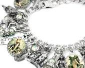 Mermaid Charm Bracelet, Mermaid Bracelet, Mermaid Jewelry, Ocean Bracelet
