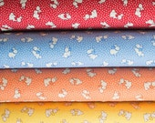 Lecien Retro 30's Bunnies Reproduction Feedsack Fabric - Choose your Color