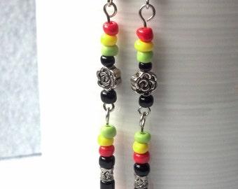 Reggae Rose Earrings