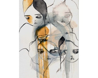 original painting on paper-figures