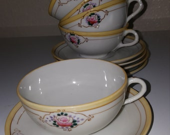 Royal Nippon cups and saucer (5 each)