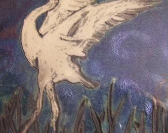White whooping Crane