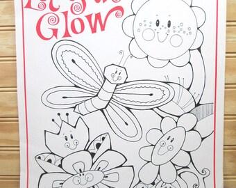 Vintage School Motivational Poster To Color Butterfly Beverly Johnston Illustration 1979 Retro