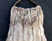 Vintage Fur Hobo Bag in Soft Taupe by Stacy Leigh