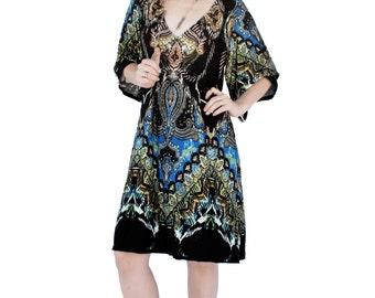 Agoraphobix Bell sleeve 70s mini dress | boho dress