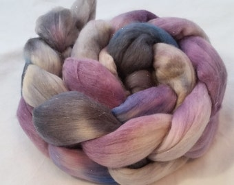 Darkle on Sparkle - Hand dyed roving