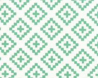 SALE fabric, Geometric fabric, Aztec fabric, Aqua fabric, Baby fabric, Cotton fabric by the yard, Choose the Cut, Free Shipping Available
