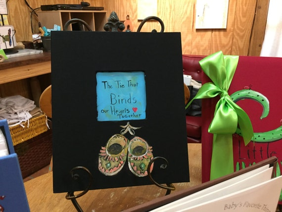 """Aztec Moccasins Baby Memory Book, """"The Ties That Bind"""""""
