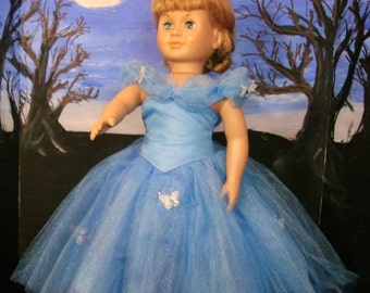 """Cinderella ball gown for 18"""" doll, OOOAK"""