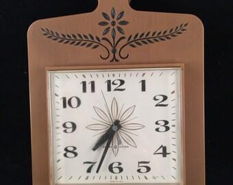 Vintage 1960s Era General Electric Kitchen Clock Cutting Board