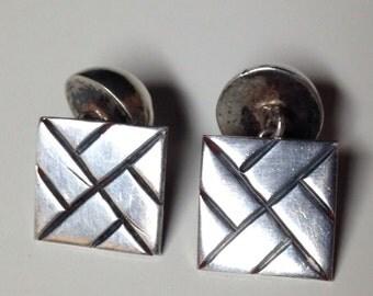 1940 Taxco Sterling Silver Cufflinks