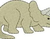 Mini Triceratop dinosaur machine embroidery designs 4 sizes