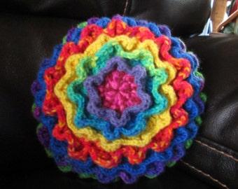 Rainbow Flower Decorative Pillow