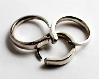 Fork Tine Midi Pinky Ring Repurposed Vintage Silverware Jewelry by Hendywood