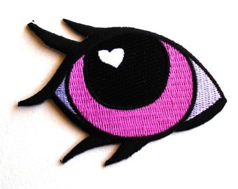 Unicorn Patch Pony Eye Patch Magic Pastel Eyeball Patch Iron on Embroidered Kawaii Lashes Patch 90s Badge