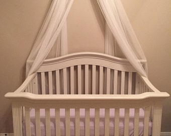 Princess Bed Canopy Crown Valance Lavender Petite Bows FrEe WHITE SHEERS INCLUDED Nursery Crib Custom Princess Fairy So Zoey Boutique SaLe