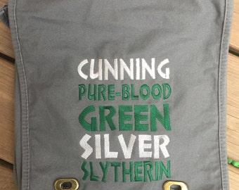 Harry Potter Inspired Messenger Bag - Slytherin