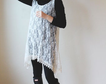 Lace tunic, top, dress, smock