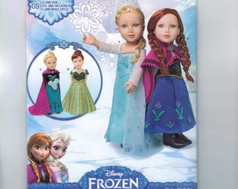 Doll Sewing Pattern Simplicity 1217 Disney Princess 18 Inch Doll Clothes Frozen Anna Elsa UNCUT