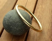 Nu gold brass bangle | 5  mm | smooth brass bangle | chunky bangle | shiny bangle | women's bangle | men's bangle | made to order